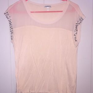 Express pink beaded top